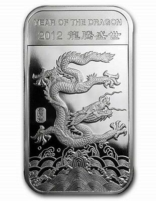 2012 Lunar Year of the Dragon Mint Sealed 1/2 oz. Fine Silver Bar!!