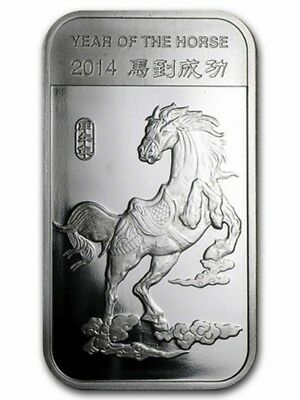 2014 Lunar Year of the Horse Mint Sealed 1/2 oz. Fine Silver Bar!!