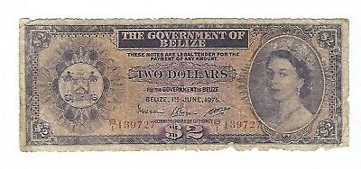 Belize - 1975, Two (2) Dollars