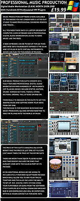 Music Production Suite, Hundreds Of VST, D.A.W  Plugins Windows Download Only