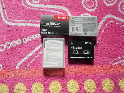 imation 4mm DDS-125 Data Tape (12 / 24 GB) x 2 - NEW sealed plus 1 used for free