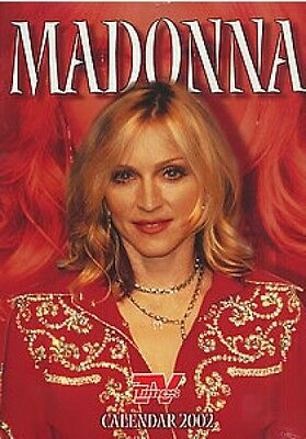 MADONNA  Official  2002 TV TIMES   calendar, never used . Dates match 2019