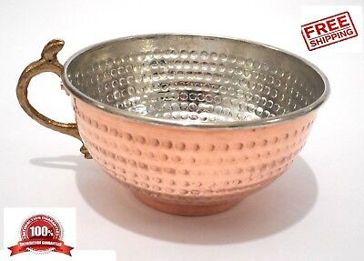 New! Hammered Copper Shaving Bowl Mug Cup for Shaving Brush and Safety Razor