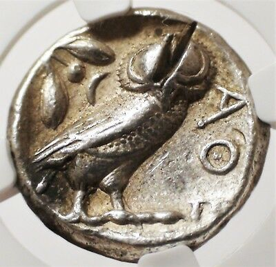 440-404 BC Athens Ancient Greece Antique Authenticated Silver Greek Owl Coin NGC