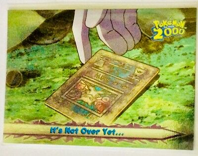 Topps Pokemon 2000 movie animation card# 70 RAREST Foil: It's not over yet! Gem!