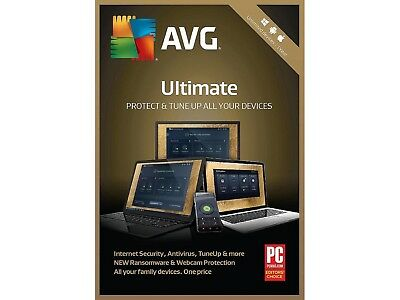 AVG Ultimate 2019 - Protect Unlimited Devices for a Full Year