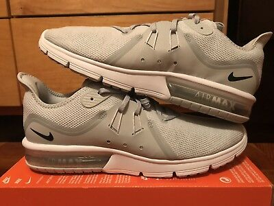 size 40 46c83 b24d9 Nike Air Max Sequent 3 Mens Size 12 Running Shoes Grey Platinum 921694 008  Rare