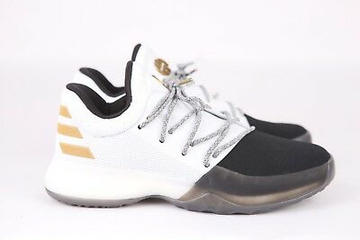 241e6adbc223 Adidas James Harden Vol 1 Basketball JR Youth BY3481 White Black Free  Shipping