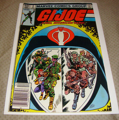 G.I. Joe: A Real American Hero #6 (Dec 1982) Marvel Comic 1st Printing FN