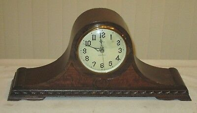 """New Haven """"ROMANY"""" Electric Self-starting Tambour/Dome Large Chime Clock parts"""