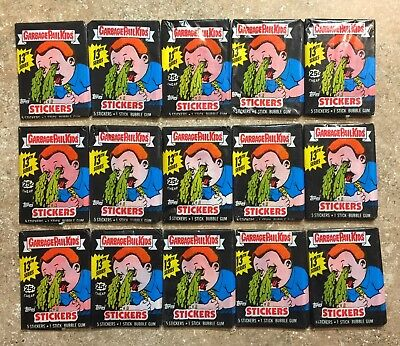 1988 Garbage Pail Kids 13th Series-15 Different Unopened Pack Lot x15 Packs! TWT