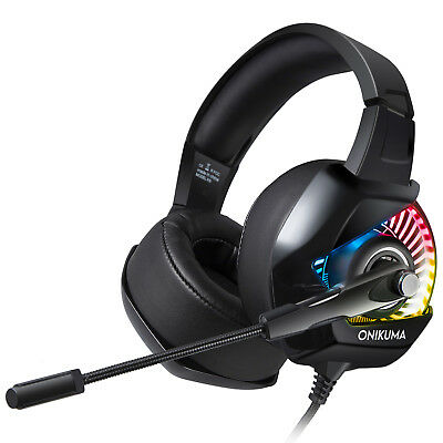 ONIKUMA K6 RGB LED 3.5mm PC Gaming Headset for PS4 Xbox One X e-sports Gift