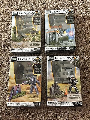 2013 Mega Bloks Halo UNSC Weapons & Ammo Packs 97165, 97166, 97076, 97037