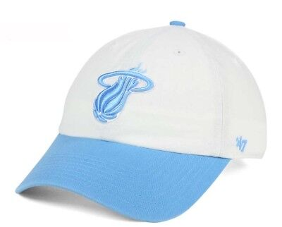 new style cd920 3d83b ... coupon code new miami heat 47 brand nba powder blue clean up hat cap  adjustable b7332