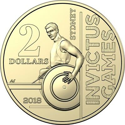 2018 $2 Invictus Games Circulating Coin Mint Roll