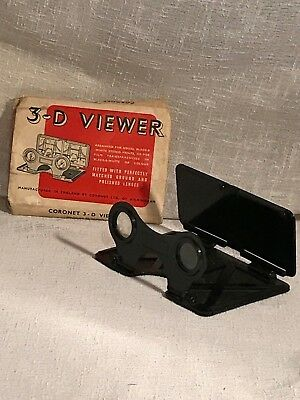 Vintage Folding Coronet 3-D Viewer in Sleeve Made in England , FREE UK POSTAGE .