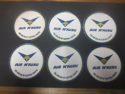 6 x  the same AIR NAURU  ,Advertising  COASTERS scolloped,very collectable