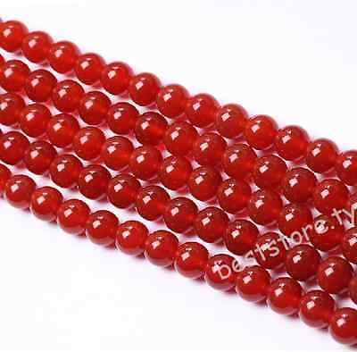 Red Carnelian Natural Agate Gemstone Round  Loose Beads 4mm 6mm 8mm 10mm 12mm