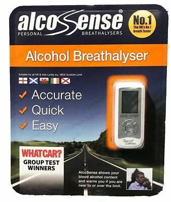 Alcosense Pocket Portable Breathalyser Alcohol Tester UK Irish Special Edition