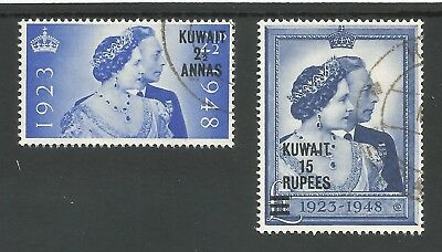 Ascension 1948 Royal Silver Wedding Pair Sg50-51 Fine Used Cat£50 Stamps