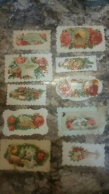 Lot Of 10 Antique & Victorian decorative name Tags