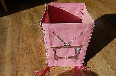 Vintage Pink Paper Hanging Lantern 50s Design: Never Used- from Retail