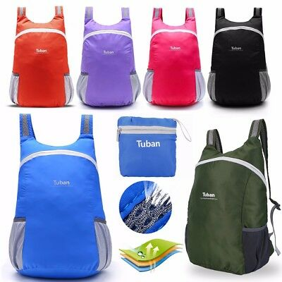 Lightweight Travel Backpack Small Hiking Rucksack Durable Packable Foldable Bag*