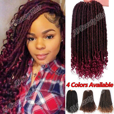Soft Faux Locs Curly Crochet Braids Goddess Hairstyle Synthetic Hair