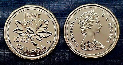 Canada 1985 Proof Like UNC Small Cent Penny!!