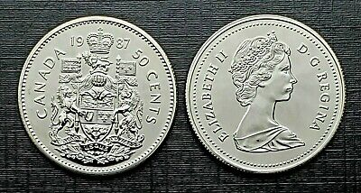 Canada 1987 Proof Like Fifty Cent Piece!!
