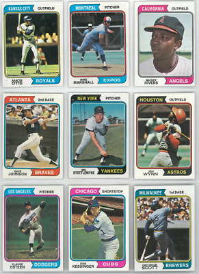 1974 74 Topps LOT YOU PICK SINGLES 10 cents -- COMPLETE YOUR SET!! Updated 12/14