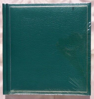 Traditional Photo Album with Cream Pages & Glassine Interleaves (50 Pages) Green