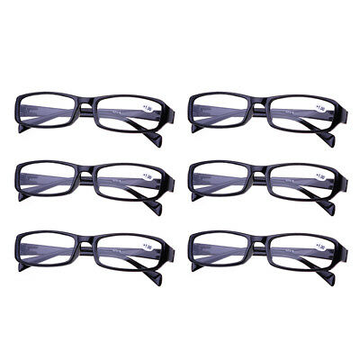 995c3803733a Frame Magnifying Mens Ladies Nerd Spectacle Reading Glasses 6 Pairs Wayfarer