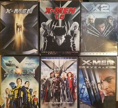 X-Men DVD Collection: 2000, X2 United, First Class, Last Stand *CHOOSE & Combine