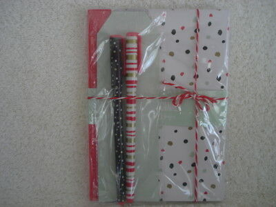Journal Dot Paperback Book With Pens NEW