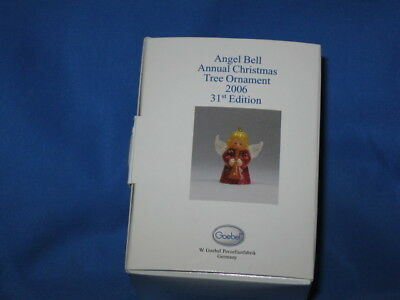 GOEBEL ANGEL BELL Ornament WHITE BISQUE W/Horn 1976-2006 NEW