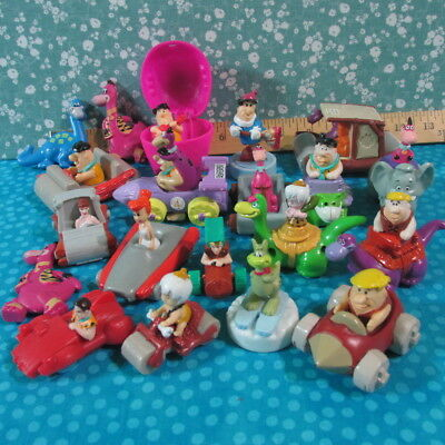 Vintage Flintstones lot / Hanna Barbara / Cars / Figures / Dinosaur