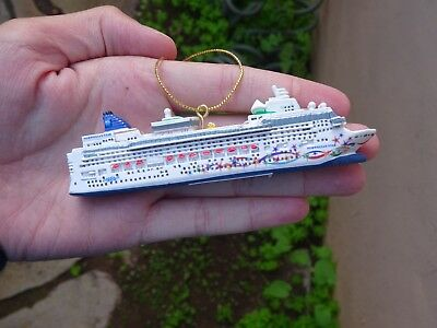 Norwegian Star Mini Cruise Ship Model. NCL Christmast Ornament. Official Hanging
