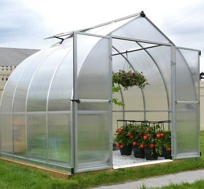 NEW PALRAM BALANCE Polycarbnate Greenhouse in Silver - 8ft