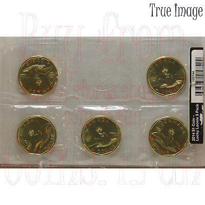 2014 Sochi Olympic Lucky Loonie - $1 One Dollar Circulation 5-Coin Pack - Canada
