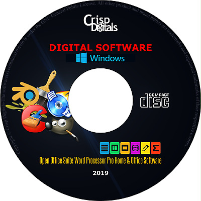 NEW 2019 Open Office Suite Word Processor CD for Microsoft Windows & Mac OS
