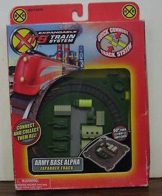 XTS Expandable Train System Army Base Alpha Expander Track 1237 - New - 2004