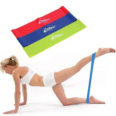 3X Tension Resistance Band Loop Fitness Workout Training Yoga Exercise Gym Bands