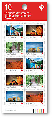 *no tax *old Price 2018 Canada Far & Wide Domestic Stamps Booklet 10 Sc# 3071-75