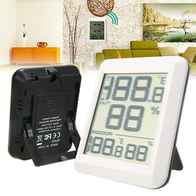 Digital LCD Wireless Indoor Outdoor Thermo-Hygrometer Thermometer Humidity Meter