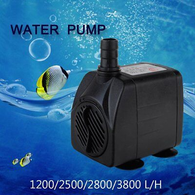 1200-3800L/H Submersible ECO Aquarium Fountain Pond Marine Water Pump Fish Tank