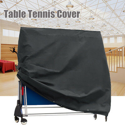 Waterproof Folding Table Tennis Ping Pong Protective Cover Zipper Grey Dustproof