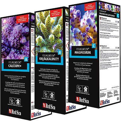 Red Sea Reef Foundation ABC PRO PACK 3x 1 Liter Liquid Supplements FREE USE SHIP
