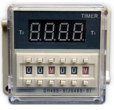 380V DH48S-S Programmable dual control time delay relay