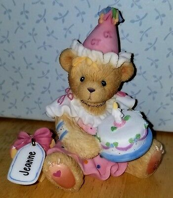RARE NEW Cherished Teddies - Jeanne - Girl With Birthday Cake - 864390